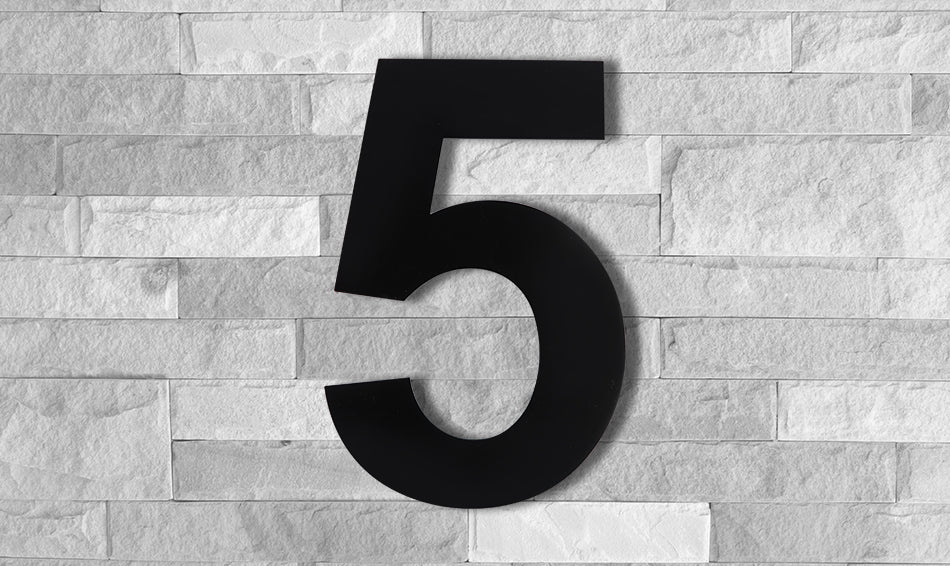 Modern BLACK House Numbers and Letters