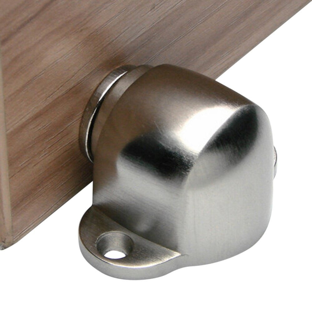Premium Round Stainless Steel Magnetic Doorstop with Catch