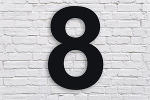6 Inch BLACK House Numbers & Letters