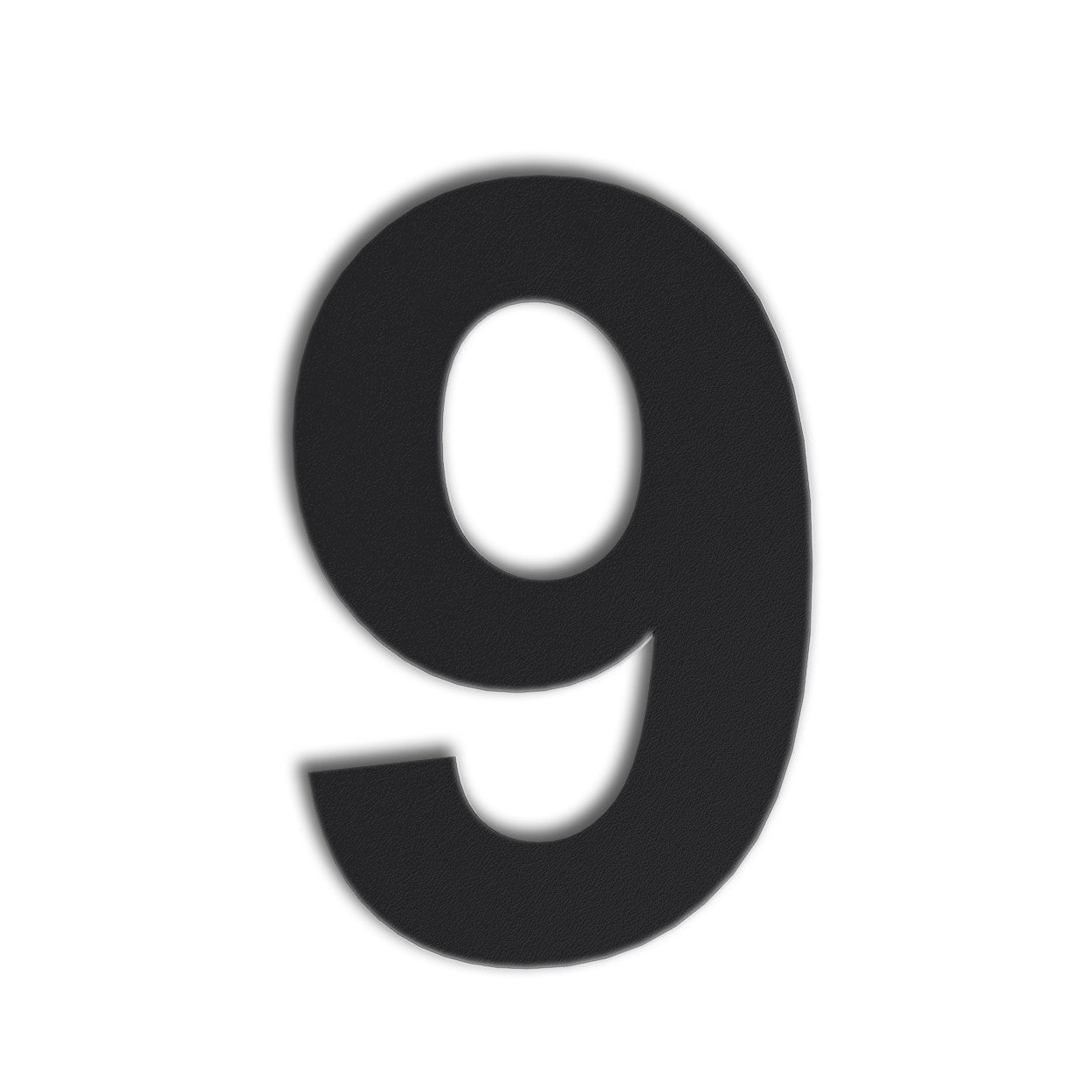 QT Modern House Number - SMALL 4 Inch BLACK - Made of solid 304