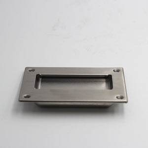 QT Modern Flush Stainless Steel Pull Door Handle