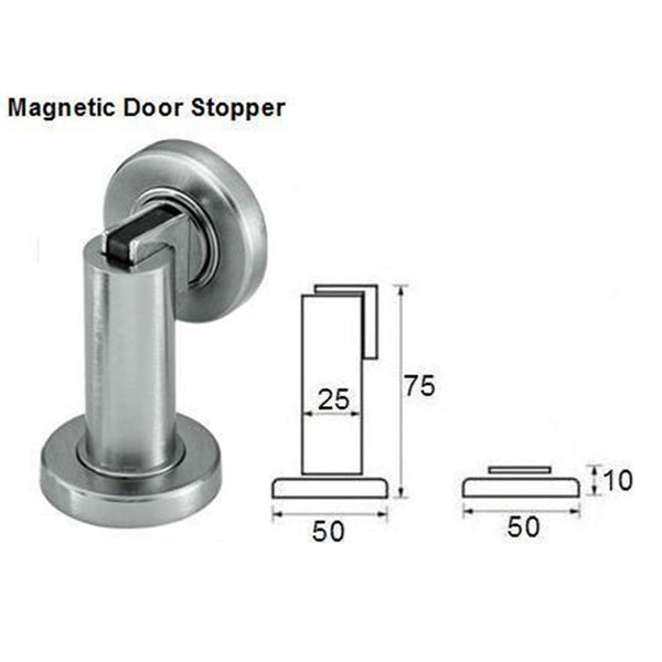 ... QT Premium Modern Cylindrical Solid Steel Magnetic Door Stop ...