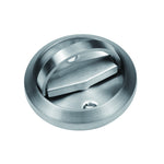 QT Round Recessed Door Handle/Deadbolt (No Key)(Standard US Door 1.3-1.7 inch / 35-45mm), NOT FOR POCKET DOORS, Thin latch with Bevel edge.