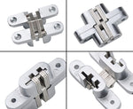 Mortise Mount Invisible / Concealed Hinges (2-3/4 Inch Leaf Height) - 2 Hinges
