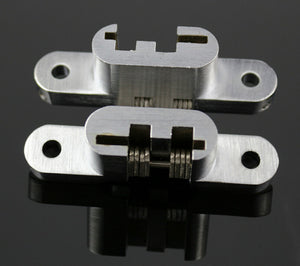 Mortise Mount Invisible / Concealed Hinges (1-3/4 Inch Leaf Height) - 2 Hinges