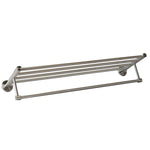 QT Premium Modern Single Hanging Quadruple Towel Bar Rack w/ Round Base (24 Inches)