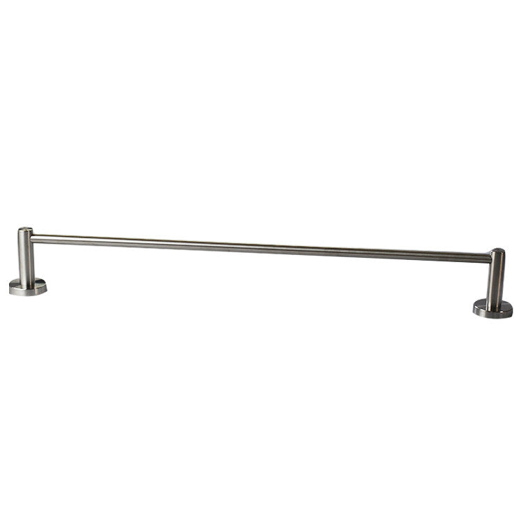 QT Premium Modern Single Towel Bar Rack w/ Round Base (24 Inches)