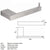QT Modern Bathroom Straight Toilet Paper Holder Bar - Stainless Steel