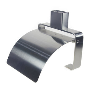 Qt Modern Bathroom Toilet Paper Holder With Cover Stainless Steel