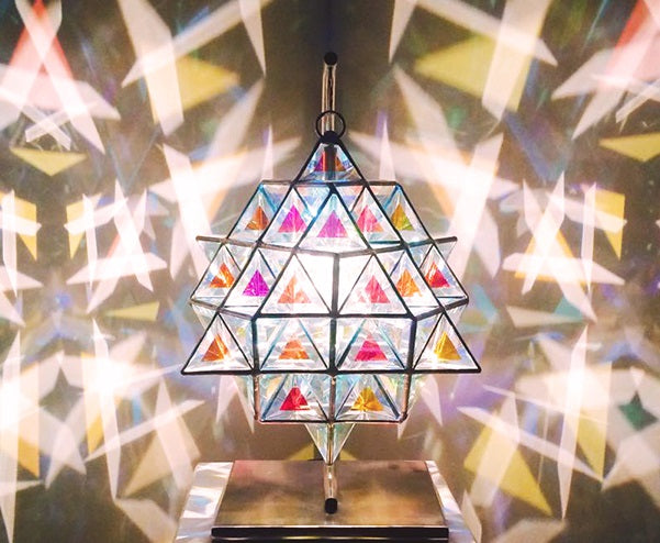 Tetra Matrix - 64 Tetrahedron Luminary Pendant Light created with Nassim Haramein