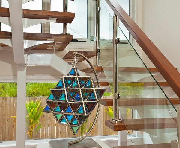 Introducing the Tetra Matrix - 64 Tetrahedron Glass Sculpture