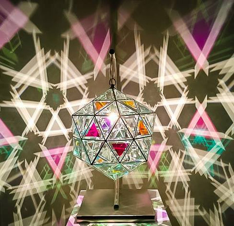 icosahedron pendant light