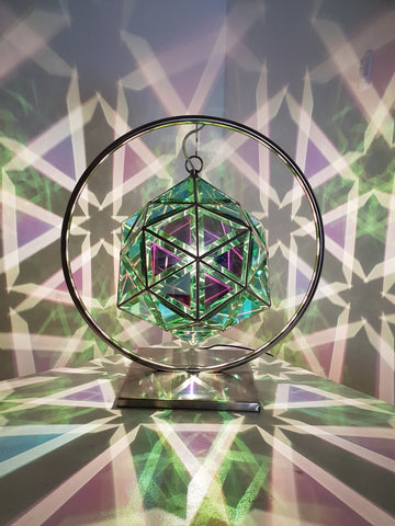 dichroic green pendant light