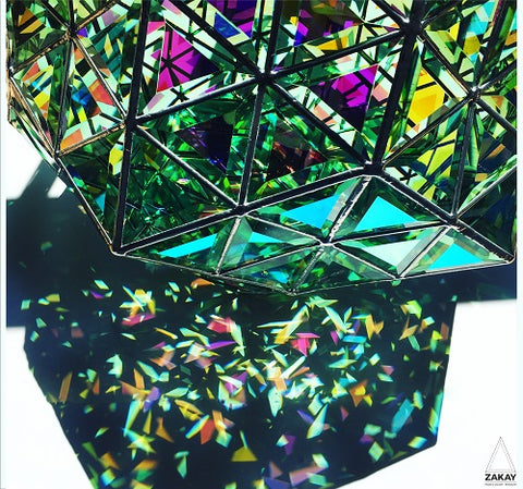 dichroic green glass in glass art