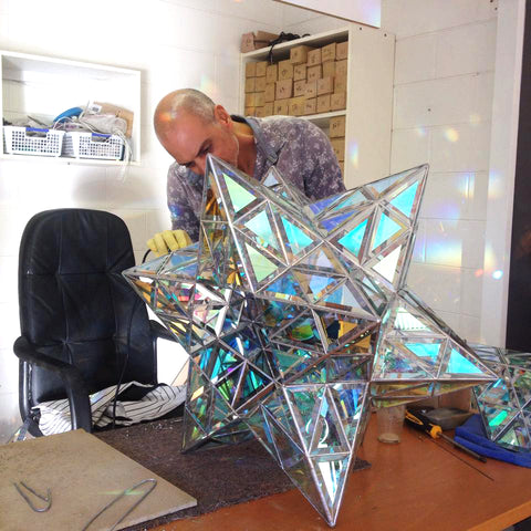 creating geometric pendant light