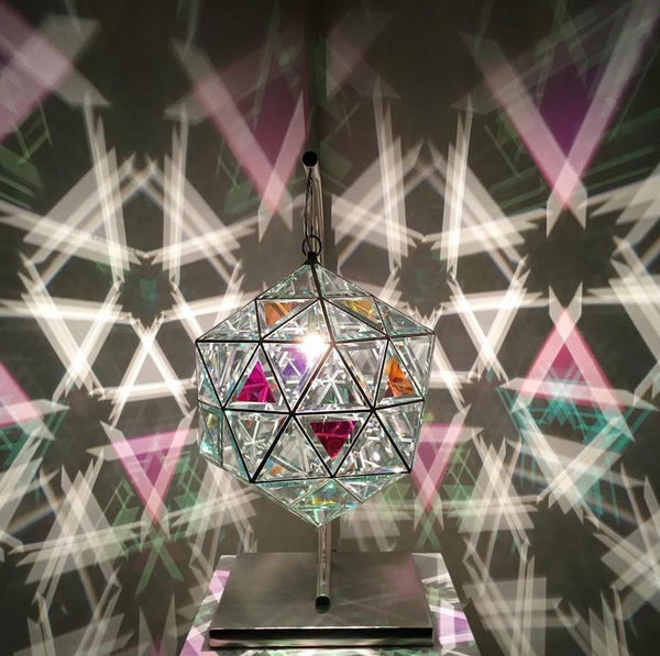 Ankaa Pendant Lamp in Dichroic Glass