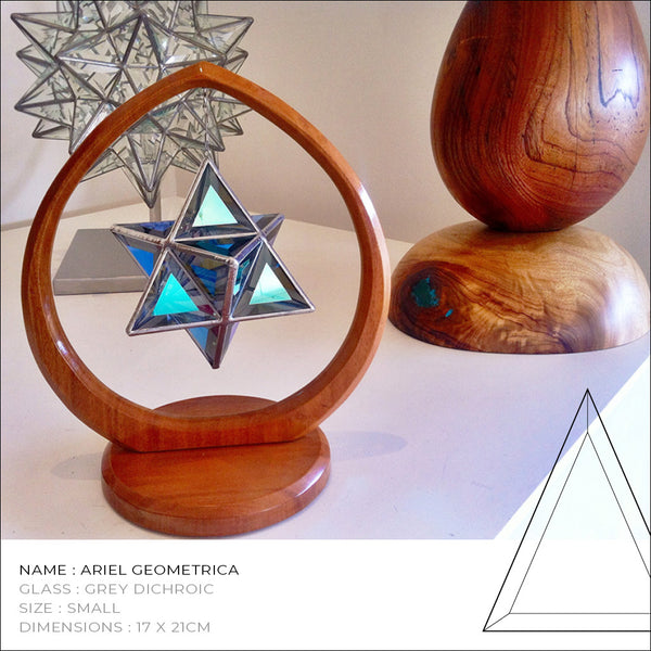 """Ariel"" Merkaba Star Glass Sculpture"