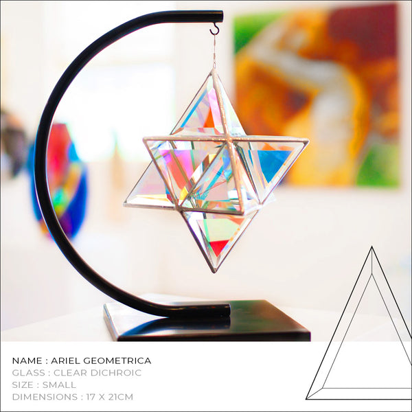 merkaba glass sculpture
