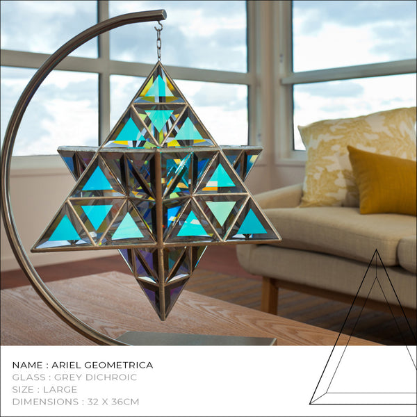 star tetrahedron glass star