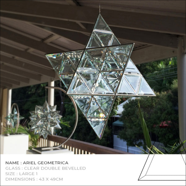 Ariel Merkaba Star Glass Sculpture