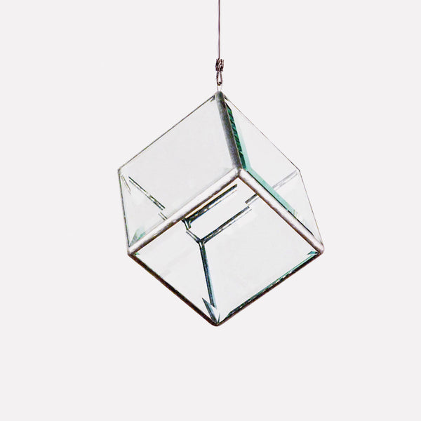 geometric glass sculpture