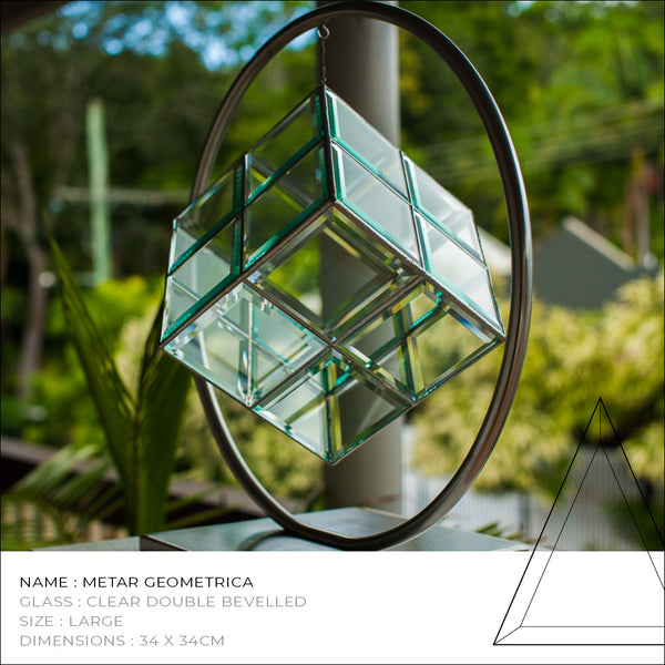 Metar Geometric Glass Sculpture