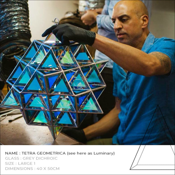 Tetra Geometrica Glass Sculpture