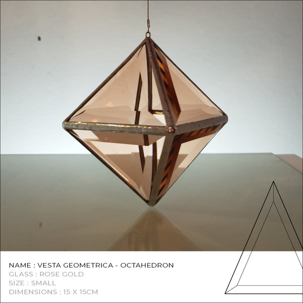 Rose Gold Octahedron