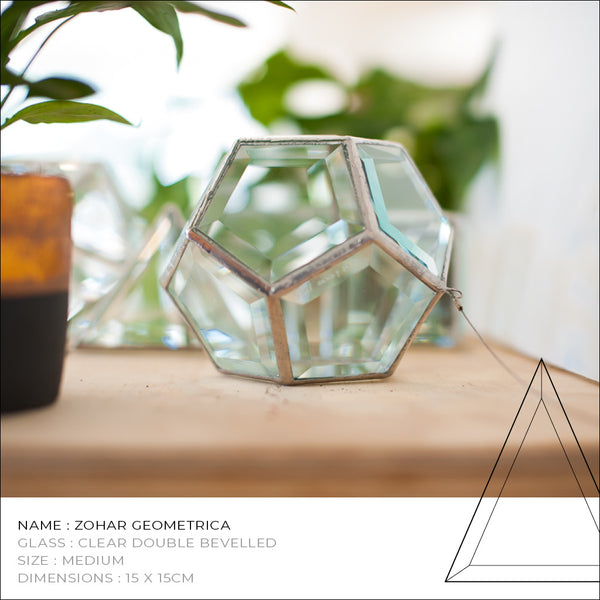 Zohar Geometrica Glass Sculpture
