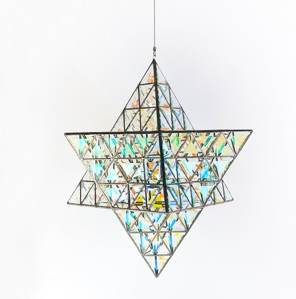 Ariel Luminary - Star Shaped Pendant Light - Dichroic Large 2 and Large 3