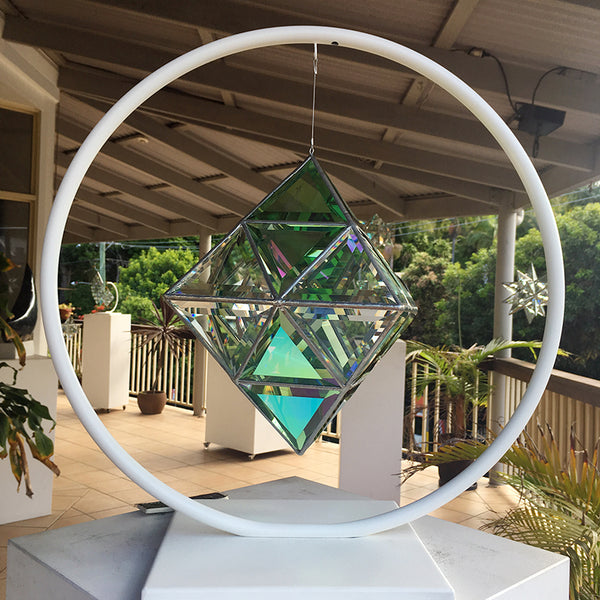 Geometrica Sculpture Stand - 'Full Moon' - Powder-Coated