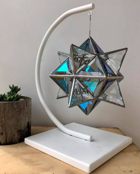 Geometrica Sculpture Stand - 'Half Moon' - Powder-Coated Steel