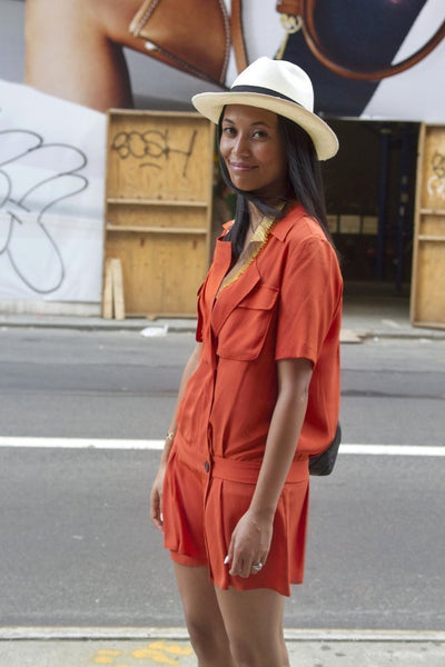 Orange Romper - New York