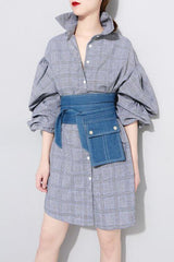 Seoul Denim Pocket Irregular Wide Belt