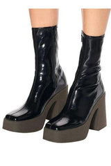 Seoul PVC Leather Ankle Boots