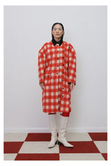 Seoul Plaid Wool Coat