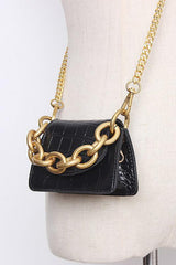 Seoul PU Leather Pin Handbag