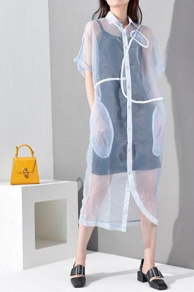 Seoul Organza Shirt Dress