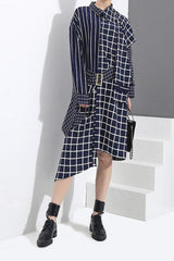 London Plaid Pocket Mini Dress