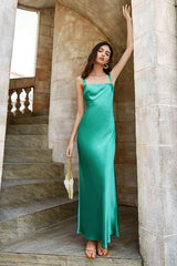 Milan Satin Long Dress