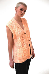 London Vintage Knitted Cardigan-Tops-Wandering I
