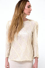 London Vintage Sequin Top-Tops-Wandering I