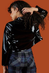New York Patent Leather Jacket-Outerwear-Wandering I
