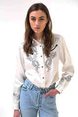 New York Vintage Blouse-Tops-Wandering I