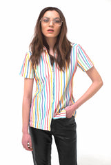 New York Vintage Multi Stripe Top-Tops-Wandering I