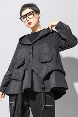 Seoul Asymmetric Hooded Jacket