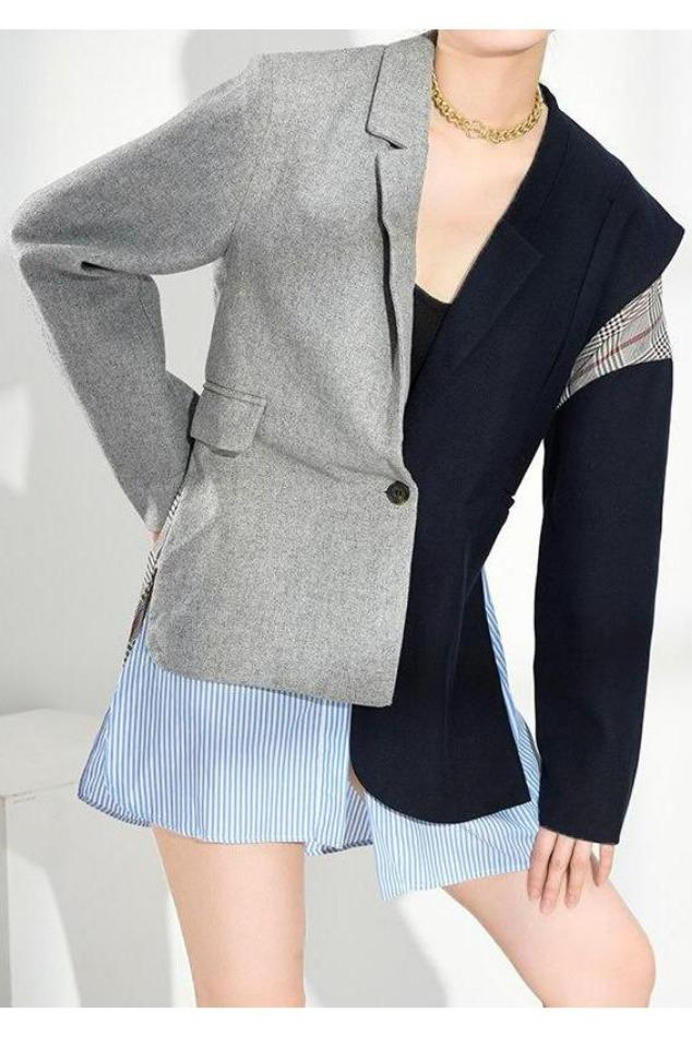 Seoul Contrast Colourblock Blazer