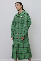Seoul Plaid Long Coat