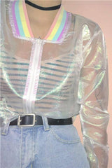 Seoul Rainbow Transparent Jacket-Outerwear-Wandering I