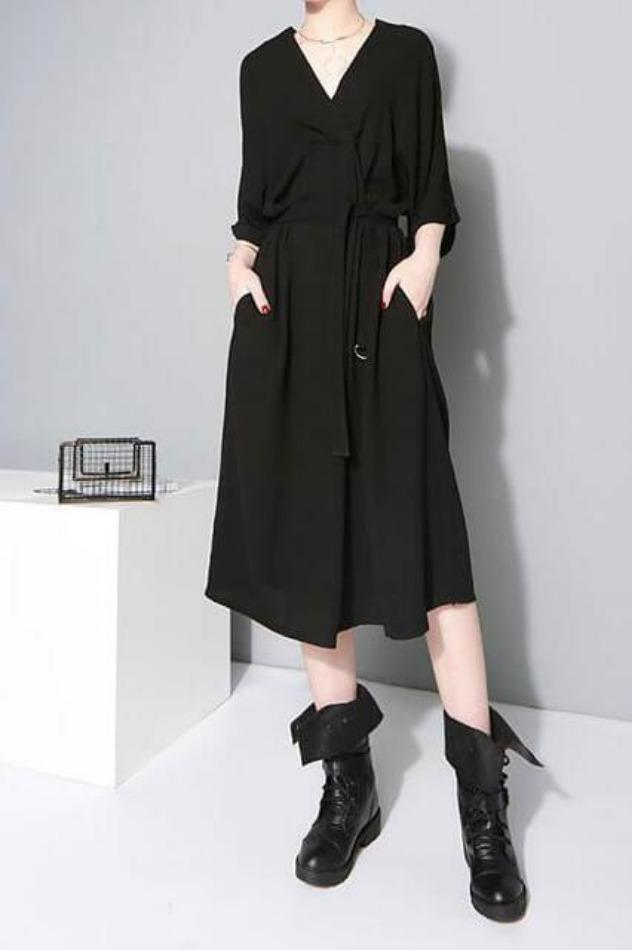 Seoul Solid Belted Dress